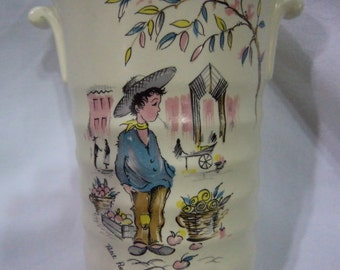 Vintage Crown Ducal Petite Pierre Vase