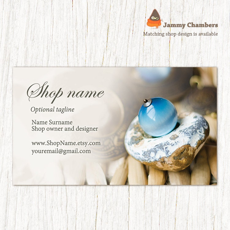 Business card template Jewelry calling card Business card