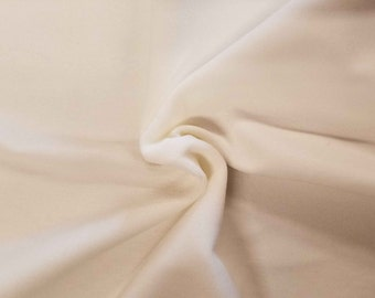 Luxurious Solid White 100% Cotton Velvet Velour Fabric for Upholstery Heavy Weight Curtain Drapery Material Sold by the Yard 54 inch Wide