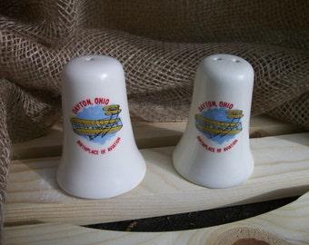Vintage Set of Dayton Ohio Souvenir Salt and Pepper Shakers