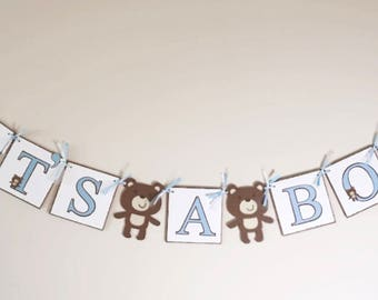 Teddy Bear Baby Shower Banner, Teddy Bear Party Banner, Its A Boy Banner, Teddy, Teddy Bear Theme