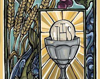 Communion Prayer Holy Card