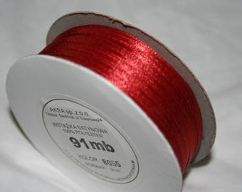 91 meters of 3 mm Red Ribbon
