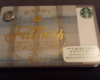 Starbucks Upcycled Refillable Giftcard Notebook - 2015 Happy Father's Day
