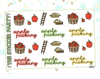 Apple Picking Planner Stickers