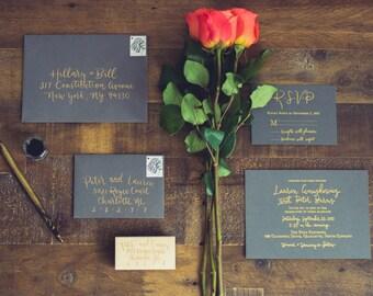 Wedding Invitation Set - Custom Design & Letterpress
