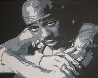 Tupac Shakur art - 2pac original handpainted acrylic painting