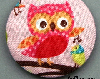 Fabric - OWL - 40mm (BP ANF 40 33) covered button