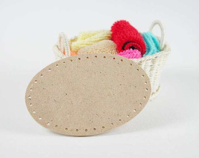 Boards approx. 5.5 x 3.5 cm oval, for washing basket, floor to wicker, for tinkering for the doll's room, Dollhouse miniatures, model making, 90002
