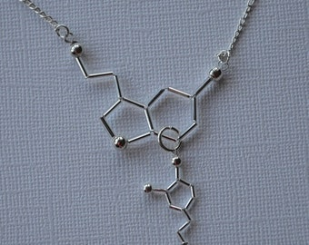 Biolojewelry - Customizable Neurotransmitter Molecule Necklace