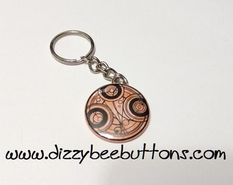 """Doctor Who - Time Lord Seal - 1.5"""" Keychain"""