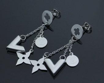 Stunning Sterling Silver Louis V Inspired Earrings Beautiful Women's Jewellery Gift Designer Inspired UK