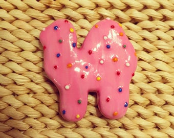 Mother's animal cookie pin/ brooch