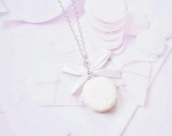 necklace macaron coconut polymer clay