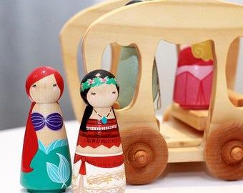 Princess Peg Dolls // Large 9cm Dolls