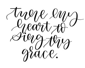 Tune My Heart to Sing Thy Grace    SVG file