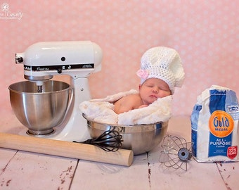 Newborn Chef Hat