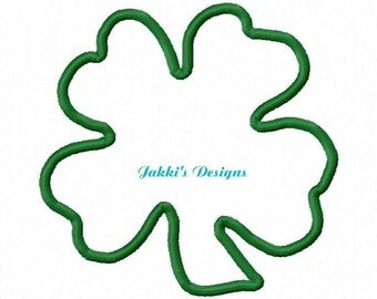 Instant Download-Four Leaf Clover Embroidery Machine Applique-554