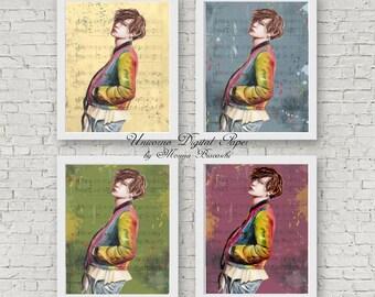 Stampa Min Yoongi, Segnalibro, Bookmark K-POP, BTS Wall Art, BTS Suga, Poster Yoongi, Bangtan Boys, Digital download, Stampe digitali