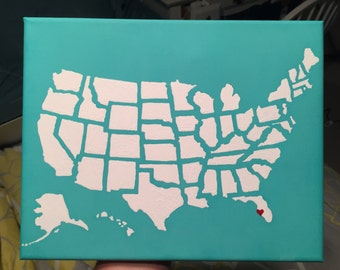 USA Map Painting