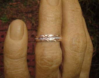 Estate 10K Diamond Wedding Band, size 7
