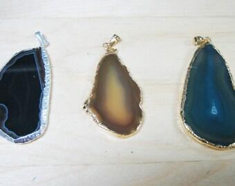 Sliced Agate Pendant