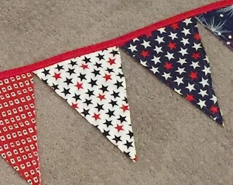 Fabric Pennant Bunting Banner fourth of july party