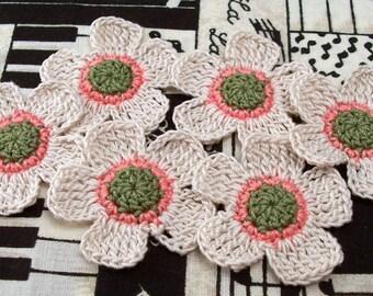 Crochet 5 Petal Flower Appliques