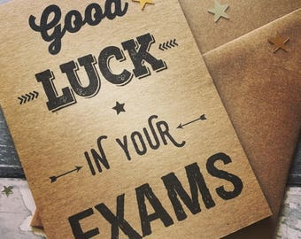 Good Luck Exams Card/Card for Exams/Good Luck Card/School Exams/Good Luck in your Exams