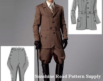 Mens Historical Banded Jacket, Breeches and Jodhpurs - Butterick B6340 Sewing Pattern - Size 34 -44 or 46 -56