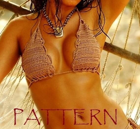 Crochet Bikini Top PATTERN. Tutorial. Crochet Pattern.Crochet crop ...