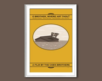 Movie poster O Brother, Where Art Thou retro print in various sizes
