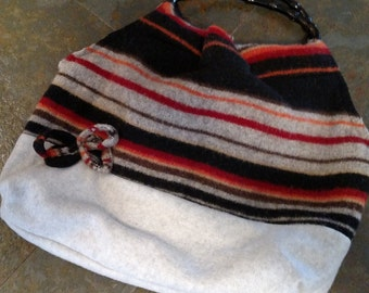 Recycled wool purse