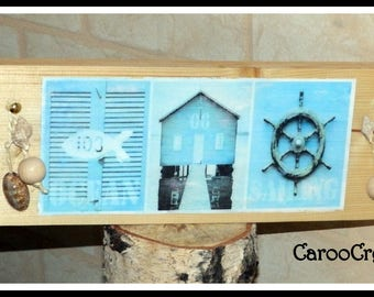 Decorative nautical style wooden sign