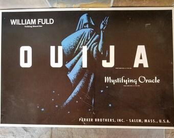 1960's Ouija Board William Fuld Parker Brothers Mystifying Oracle Talking Board Set