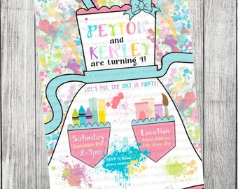 Painting Art Party Invitation