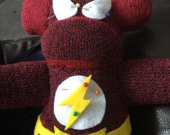 Flash inspired sock monkey
