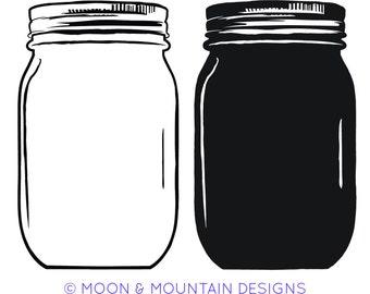Mason Jar Pack - SVG • PNG • EPS Cut Files