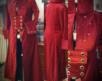 MADE TO ORDER Woman Pirate long Coat, renaissance costume, Buccaneers Frock