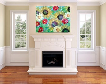 sunflowers serenade (canvas painting) 24x36