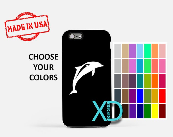 Simple Dolphin iPhone Case, Porpoise iPhone Case, Dolphin iPhone 8 Case, iPhone 6s Case, iPhone 7 Case, Phone Case, iPhone X Case, SE Case