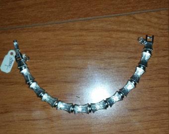 Exquisite Monet Bamboo Silver-toned Metal Bracelet