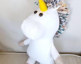 MINI unicorn plush/gender neutral/ gift/ plushie/ stuffed animal