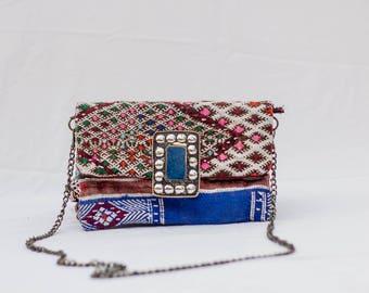 Marrakech Kilim Clutch Bag Purse Handmade Bohemian Shoulder Bag Boho  Rug Bag Handira bag