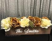 Rustic wedding floral cen...