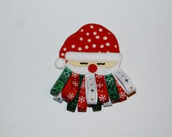 "Embroidered Iron On Applique  ""Santa"""