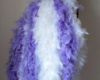 White Lilac Burlesque Ballerina Length  Bustle Belt size XS S M L XL Show girl Bridal