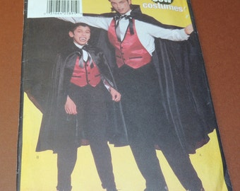 Uncut NO SEW Butterick 5105 Adult S to L Halloween Costume