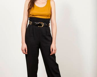 Vintage black and mustard jumpsuit - UK Size 8
