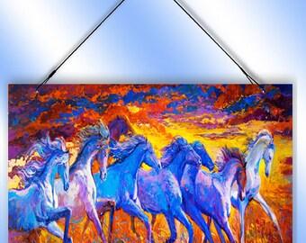 Painted Horses Decorative Window Sun Catcher from Redeye Laserworks